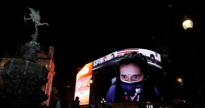 The live stream of NASA's landing of the Perseverance rover on Mars with Swati Mohan, director of guidance, navigation and control, will be shown on Piccadilly Lights in London on Thursday.