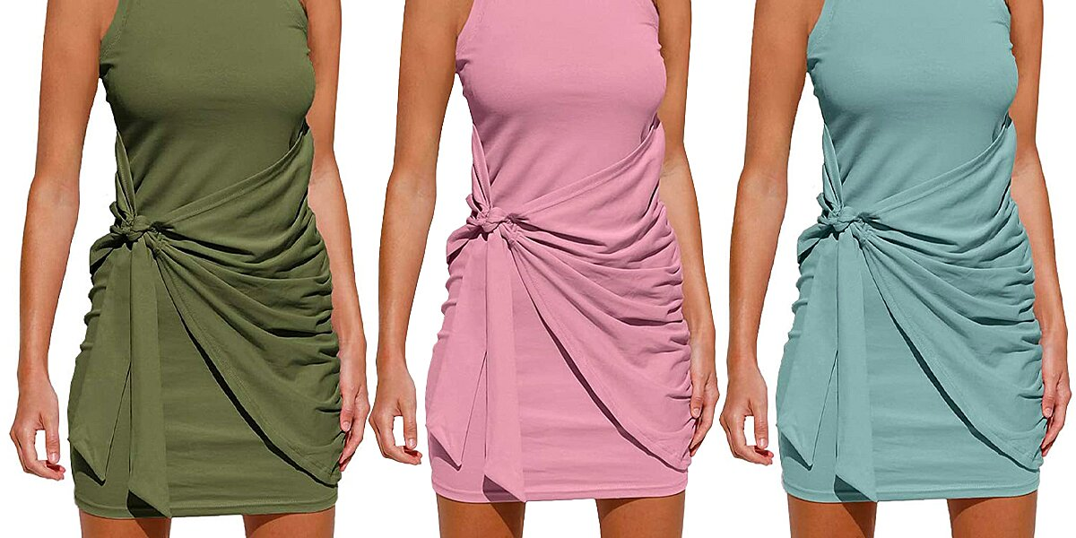 The $ 29 sleeveless tank dress is flattering and comfy