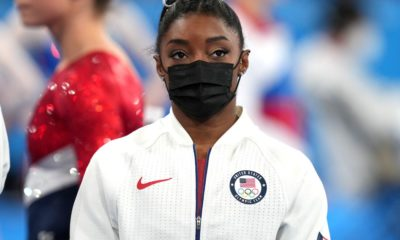 Simone Biles from the gymnastics finals of the Olympic Games in Tokyo