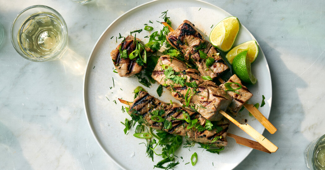 Grilling Skewers - The New York Times