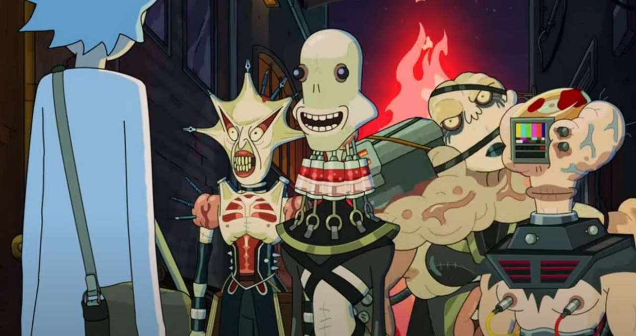 Rick and Morty introduces the adult swim version of Hellraiser's Cenobites