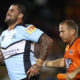 Andrew Fifita rushed to the hospital with breathing problems after Knight's loss