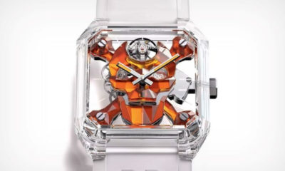 The Bell & Ross 01 Cyber Skull watch is made almost entirely of sapphire crystal