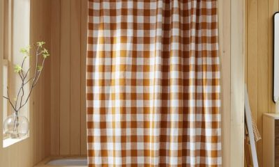 West Elm Heather Taylor Home Gingham Shower Curtain Sale