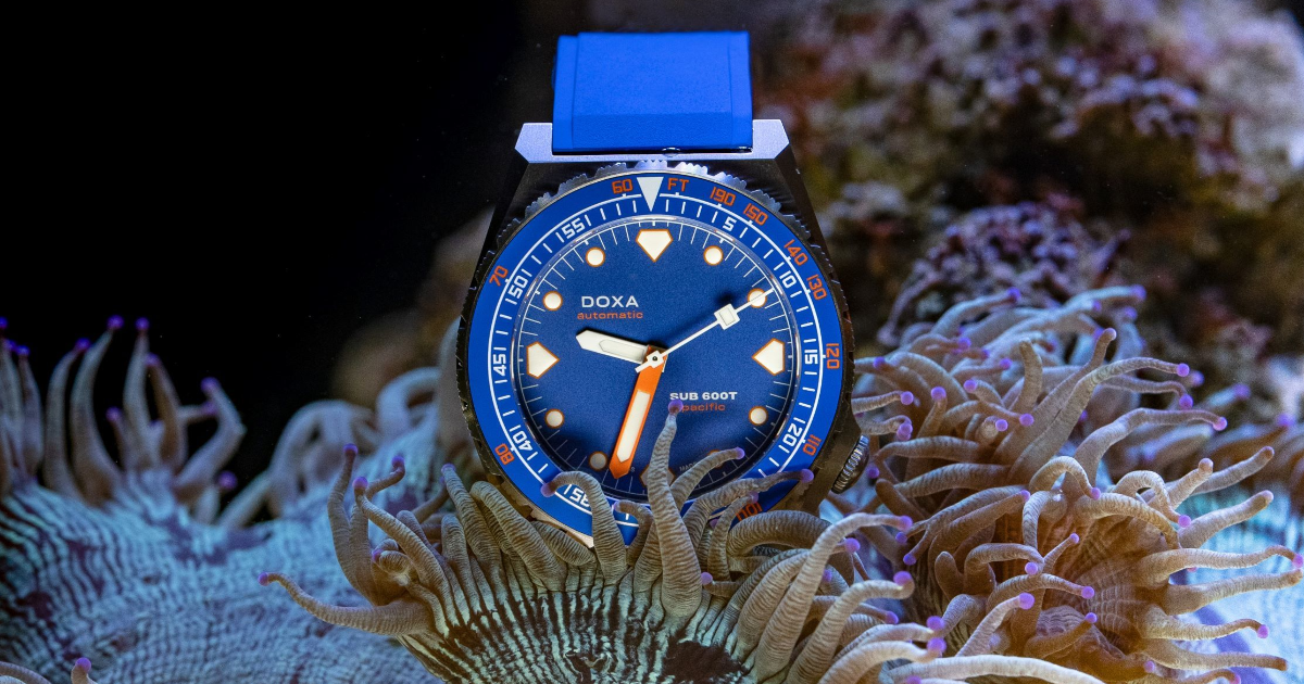 Doxa is bringing back the SUB 600T diver's watch in Limited Edition 'Pacific' Blue