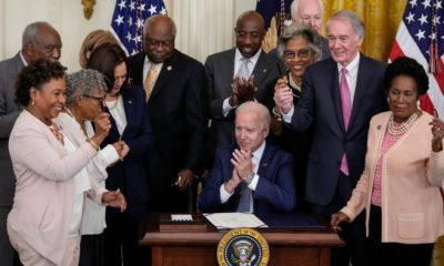 Biden signs law making June thenth a federal holiday