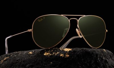 Ray-Ban's iconic aviator sunglasses are now available in solid gold frames
