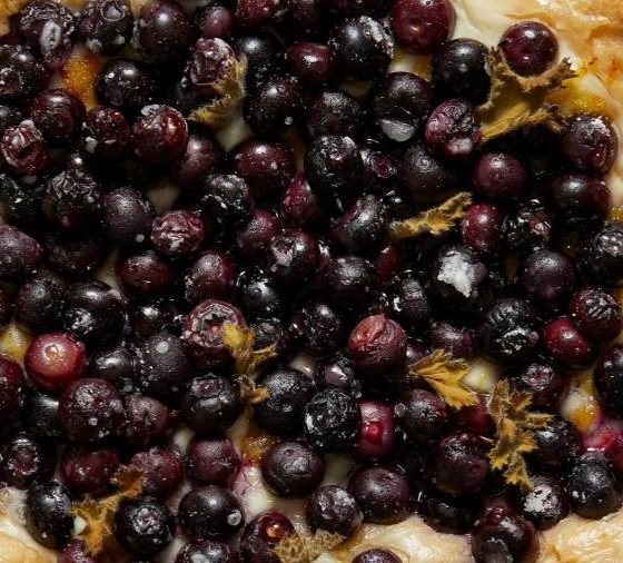 Giant blueberry Danish pizza - a recipe from Honey & Co