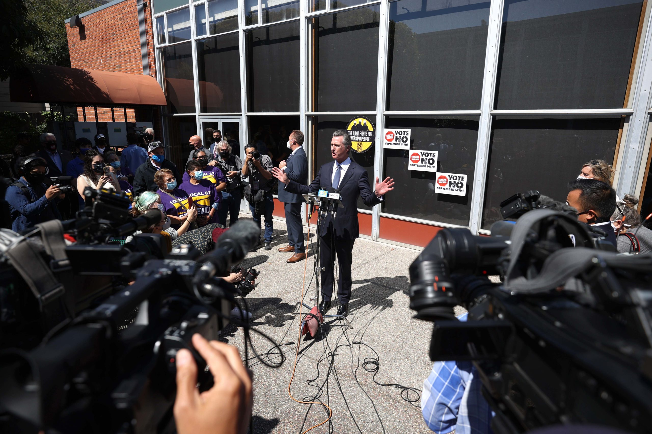 Newsom: Recall win shows Dems should 'stiffen our spines' on Covid action